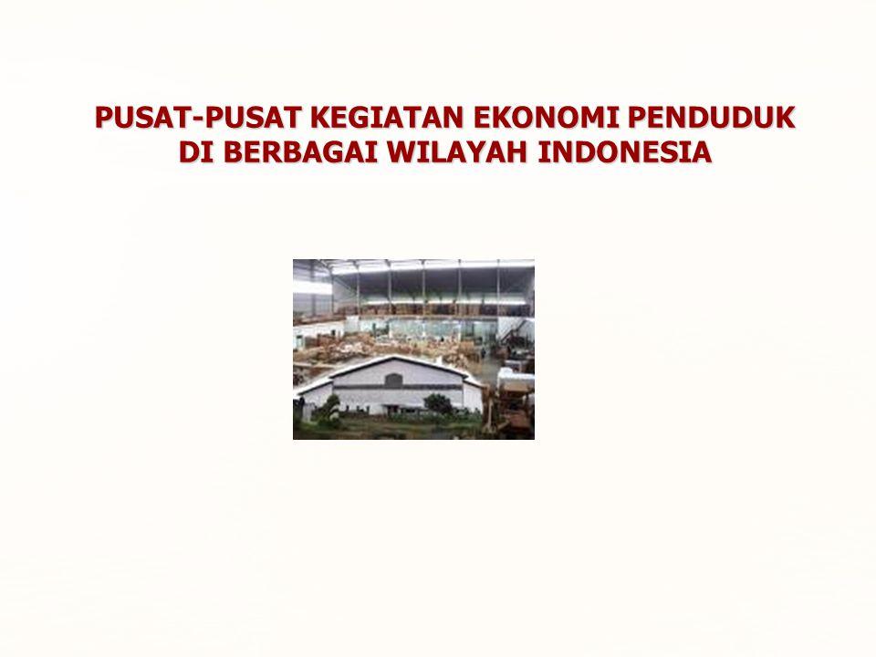 PUSAT-PUSAT KEGIATAN EKONOMI PENDUDUK DI BERBAGAI WILAYAH INDONESIA