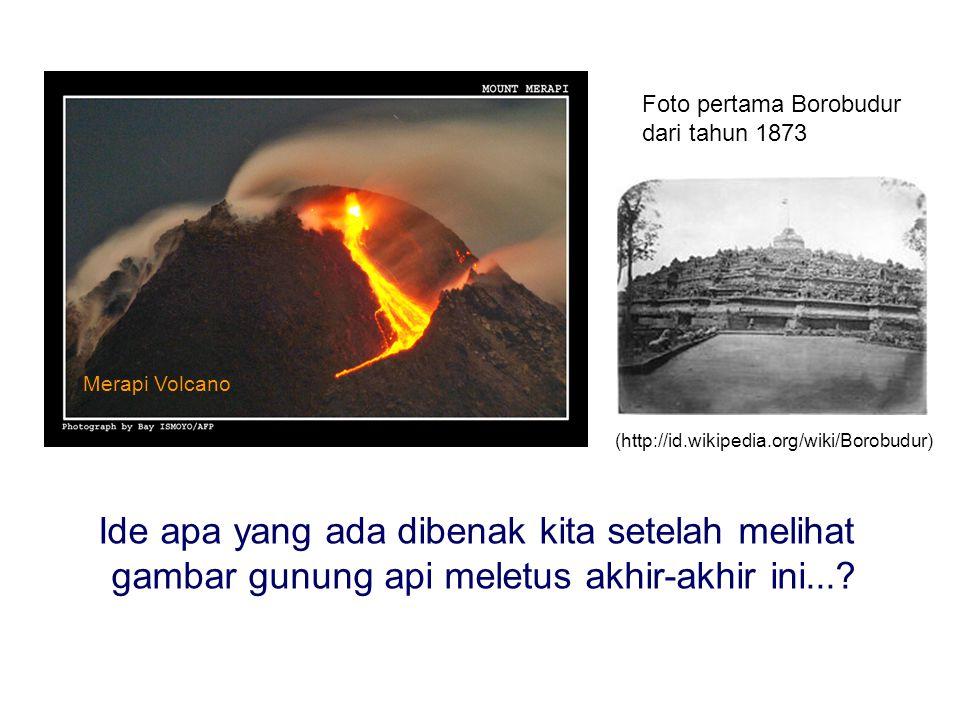 Ide apa yang ada dibenak kita setelah melihat gambar gunung api meletus akhir-akhir ini....
