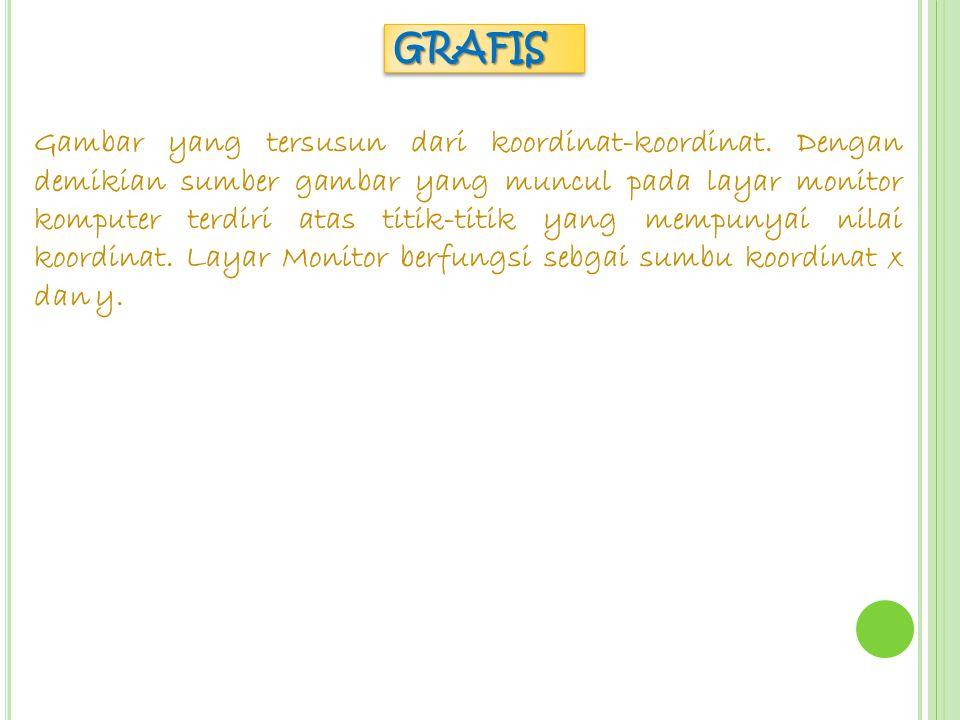 GRAFISGRAFIS Gambar yang tersusun dari koordinat-koordinat.