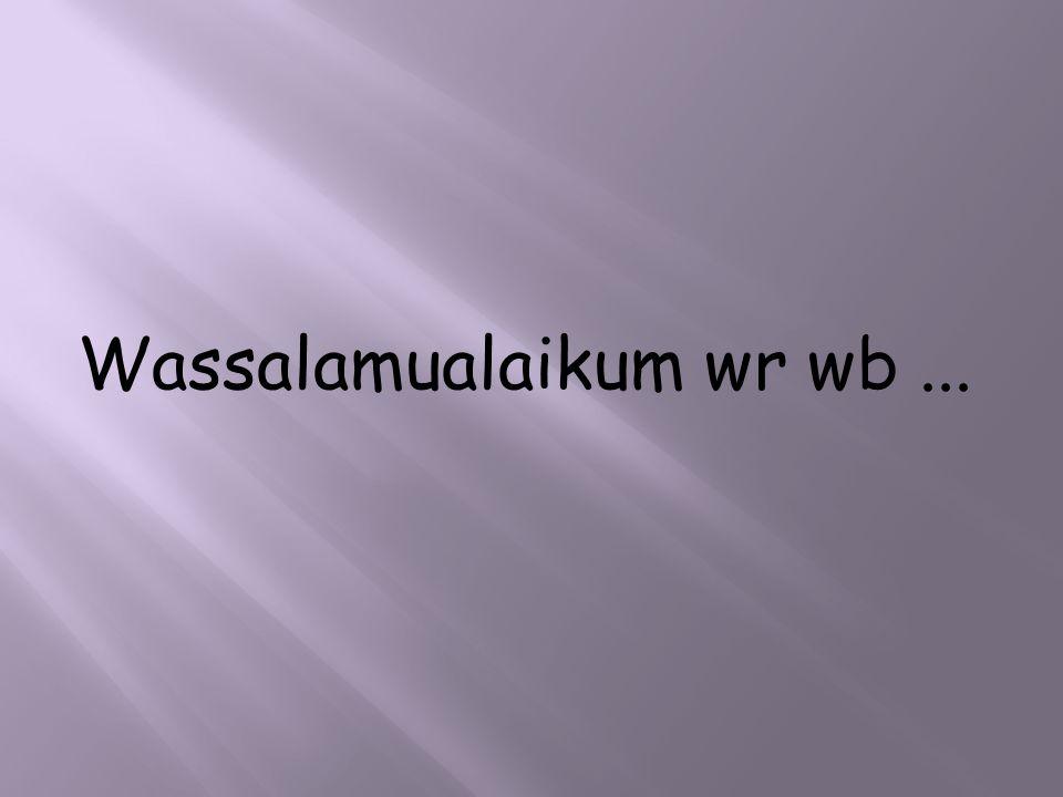 Wassalamualaikum wr wb...