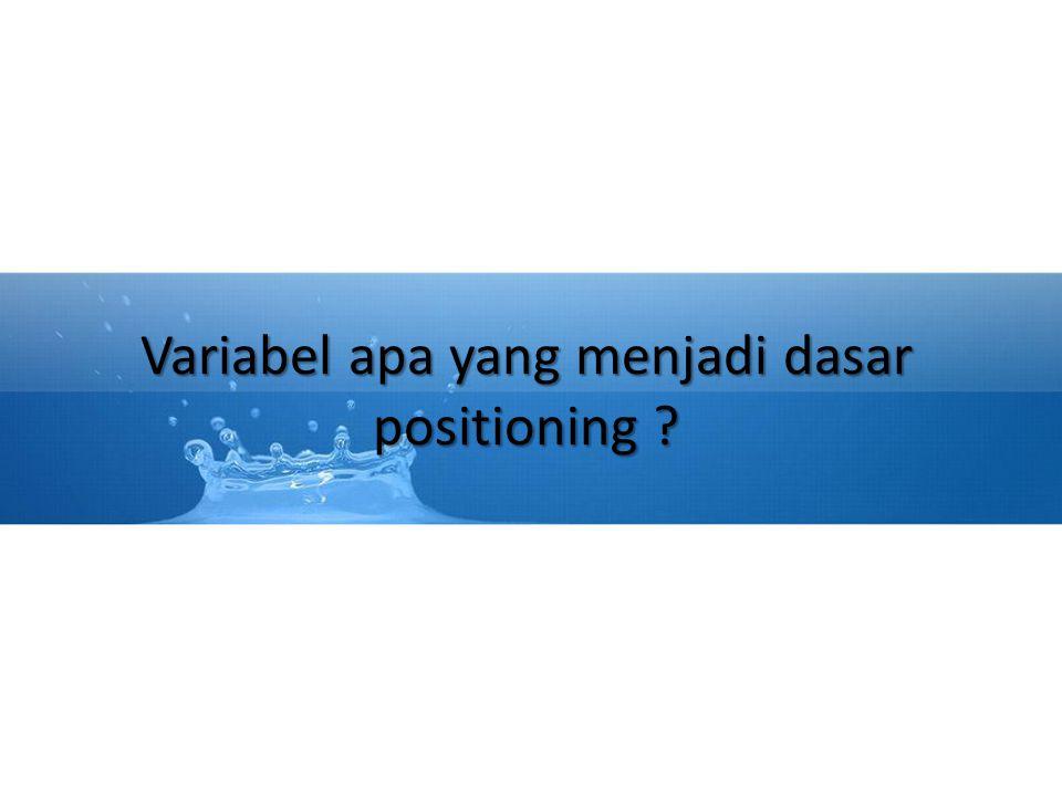 Variabel apa yang menjadi dasar positioning ?