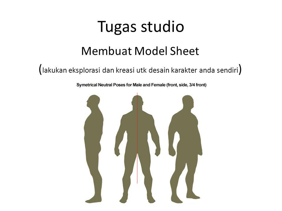 Tugas studio Membuat Model Sheet ( lakukan eksplorasi dan kreasi utk desain karakter anda sendiri )