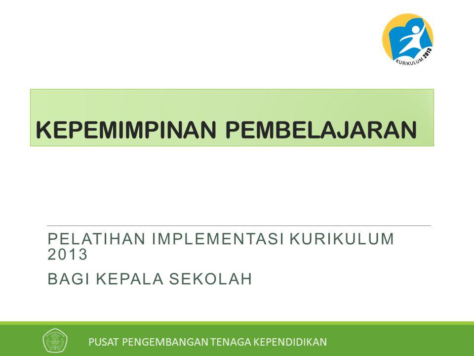 PELATIHAN IMPLEMENTASI KURIKULUM 2013 11 ENAM PRINSIP KEPALA SEKOLAH DALAM MEMERANKAN DIRINYA SEBAGAI PEMIMPIN PEMBELAJARAN 1.