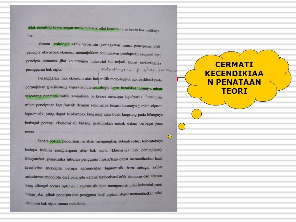 1.Periksa studi pustaka yang telah dicapai (di bag abstrak, pendahuluan, & tinjauan pustaka) 2. Pastikan di bagian rujukan (sitasi dan daftar pustaka)
