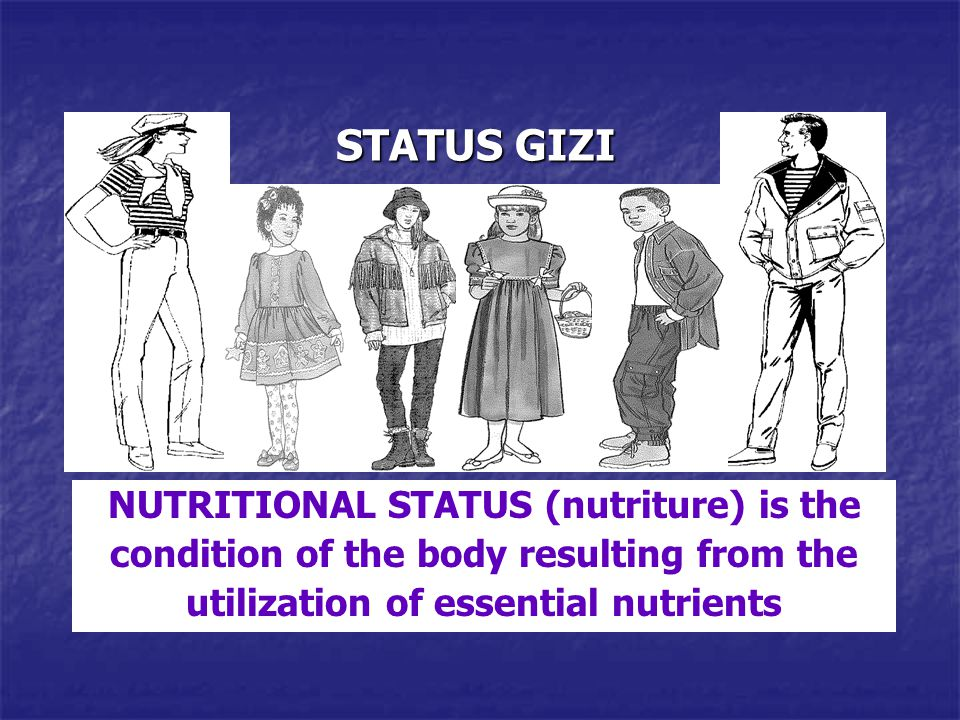 NUTRITIONAL STATUS (nutriture) is the condition of the body resulting from the utilization of essential nutrients