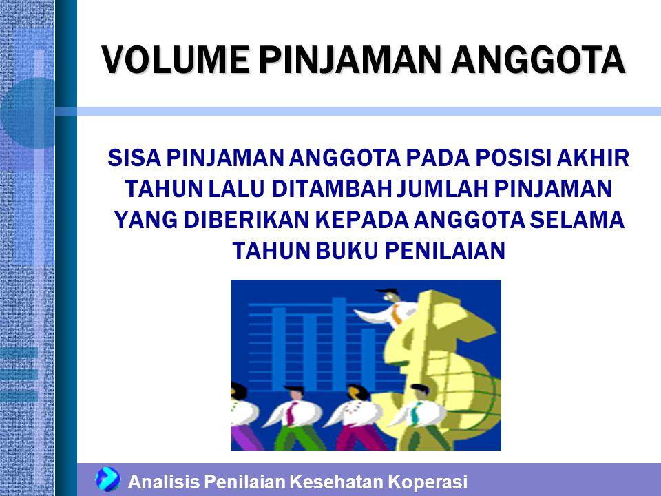 Analisis Penilaian Kesehatan Koperasi RISIKO PINJAMAN BERMASALAH PINJAMAN LANCAR PINJAMAN KURANG LANCAR PINJAMAN DIRAGUKAN PINJAMAN MACET KOLEKTIBILITAS PINJAMAN DIGOLONGKAN MENJADI 4, YAITU : PINJAMAN KURANG LANCAR 1.