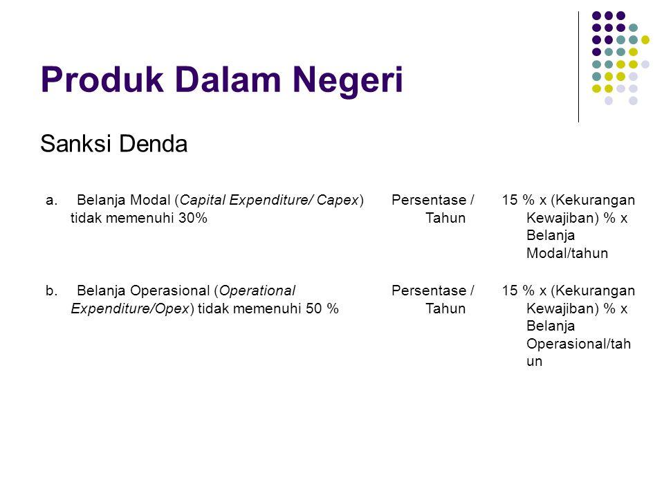 Produk Dalam Negeri Sanksi Denda a.