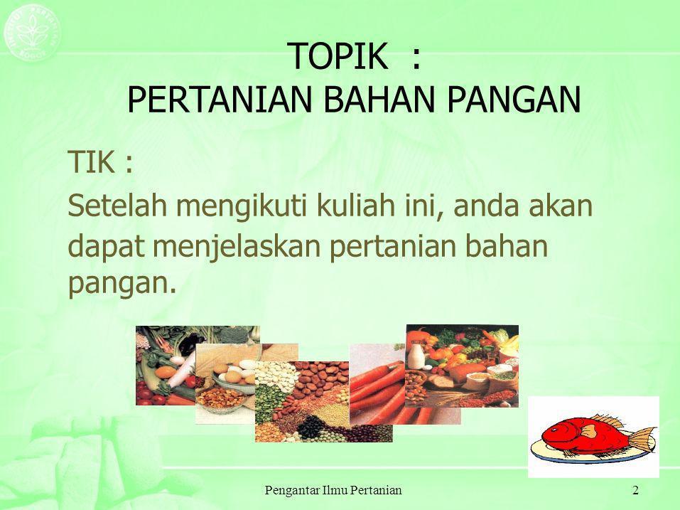 Pengantar Ilmu Pertanian33 POSISI INDONESIA DALAM HAL GAKI, AGB & KVA Source: USAID