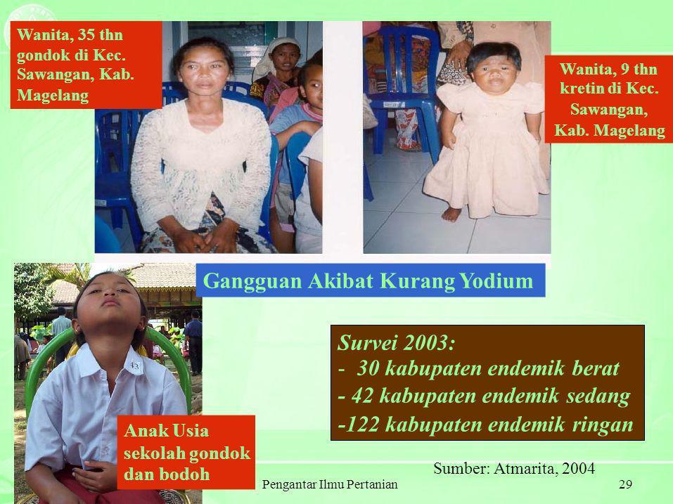 Pengantar Ilmu Pertanian29 Wanita, 35 thn gondok di Kec.