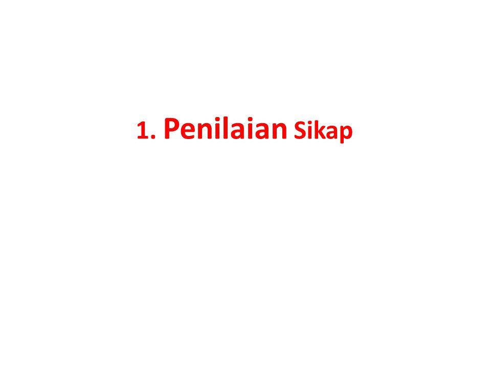 1. Penilaian Sikap