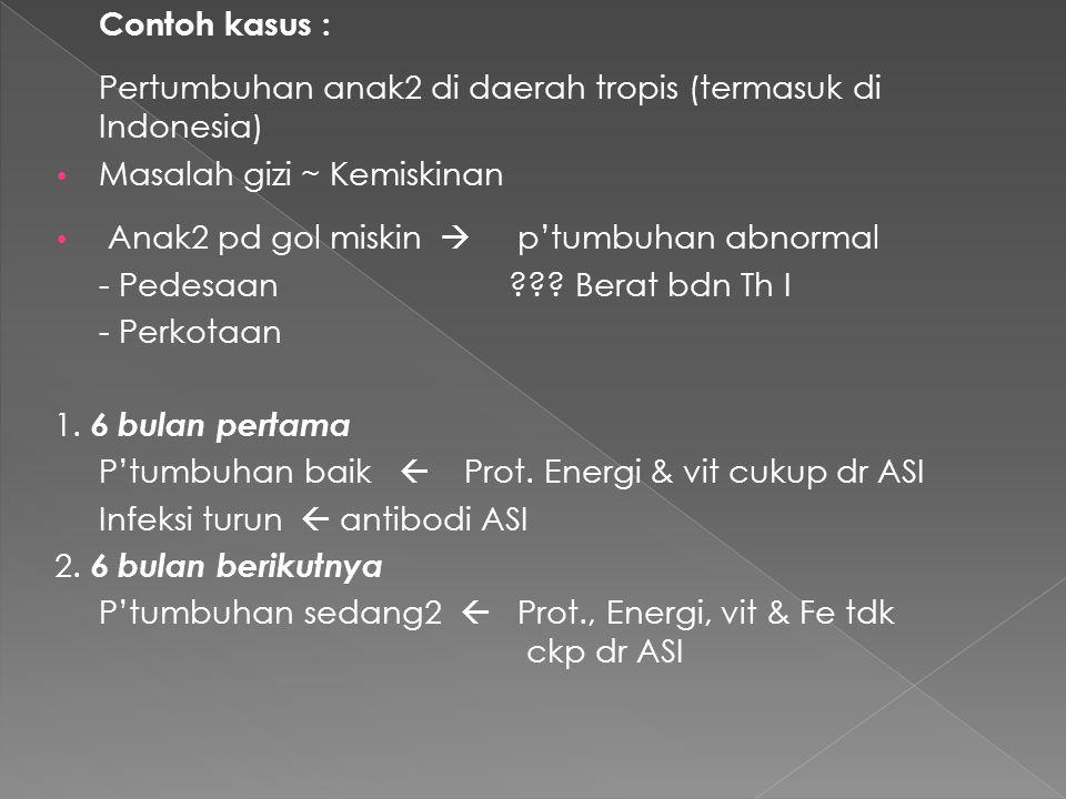 Tambahan makanan lain : - Pati, KH - Protein 3.