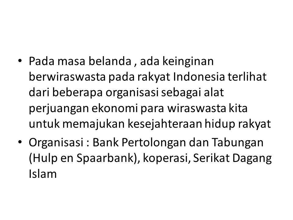 Faktor-faktor yang menyebabkan jumlah wiraswasta sangat sedikit di Indonesia menurut Deddi Angga Diredja : Faktor kebijaksanaan pembangunan yang kurang memberikan kesempatan bagi lahirnya tenaga-tenaga wiraswasta sejati Faktor kebijaksanaan pemerintah yang kurang tepat (terutama kebijaksanaan di bidang ekonomi) juga dapat menghambat lahirnya tenaga-tenaga wiraswasta.