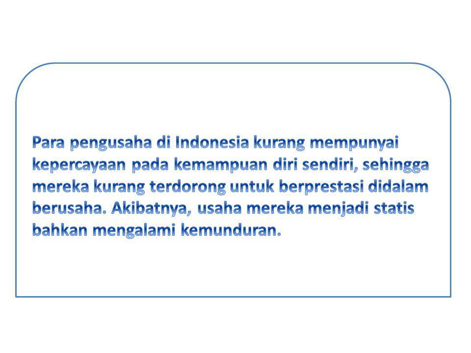 Kondisi Psikologis Pengusaha Primbumi dan Non Pribumi NoKondisi Psikologis/Motivasi/NeedPribumiNon Pribumi 1.