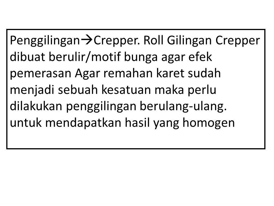 Penggilingan  Crepper.