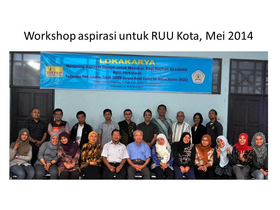 Workshop aspirasi untuk RUU Kota, Mei 2014