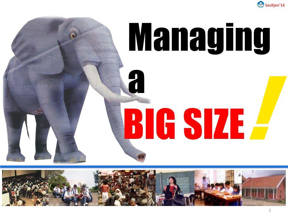 BIG SIZE Managing a ! Sesitjen'14 3
