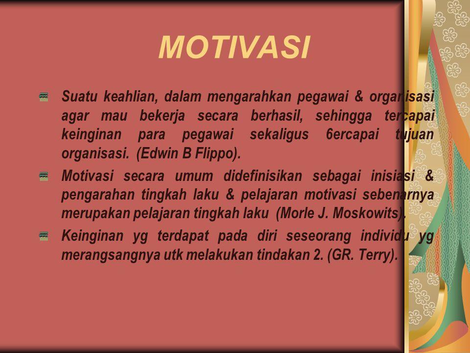 1.TEORI MOTIVASI KLASIK Teori motivasi klasik / teori motivasi kebutuhan tunggal.