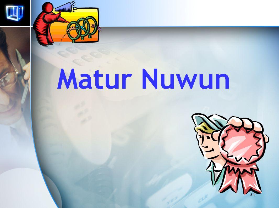 34 Matur Nuwun