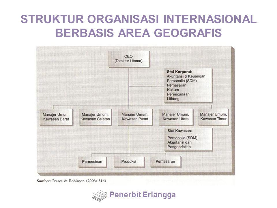STRUKTUR ORGANISASI INTERNASIONAL BERBASIS AREA GEOGRAFIS Penerbit Erlangga