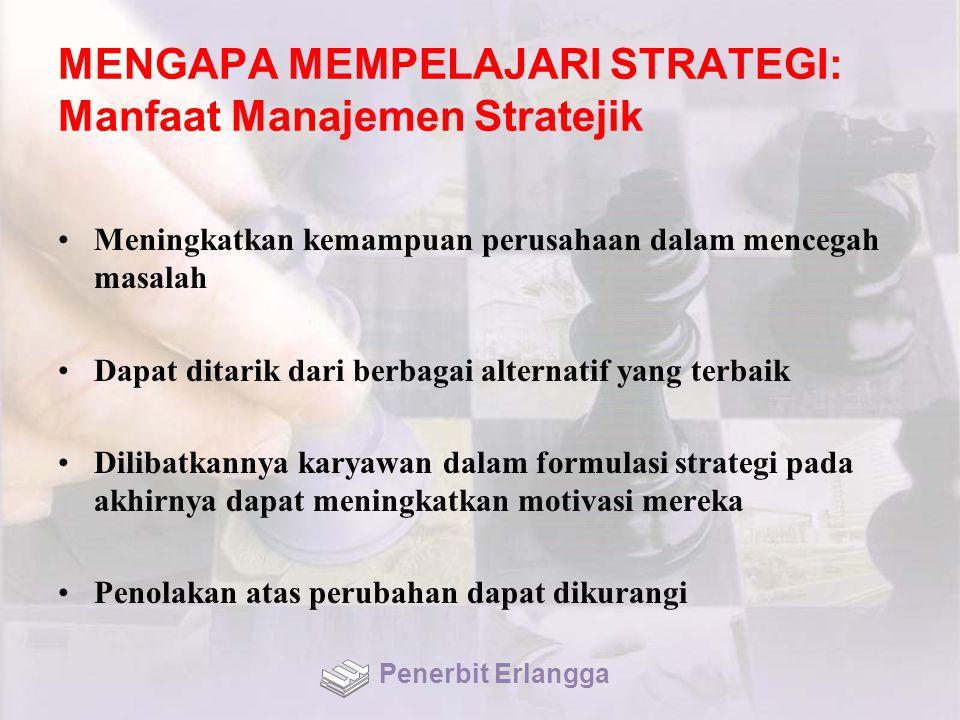 PENGENDALIAN STRATEJIK: Pendekatan Kontemporer (1) Dinamakan double-loop, dimana asumsi, dasar pemikiran, sasaran dan strategi organisasi dievaluasi, diuji, dan dikaji ulang secara terus-menerus Dua tipe berbeda dari pengendalian stratejik: 1.