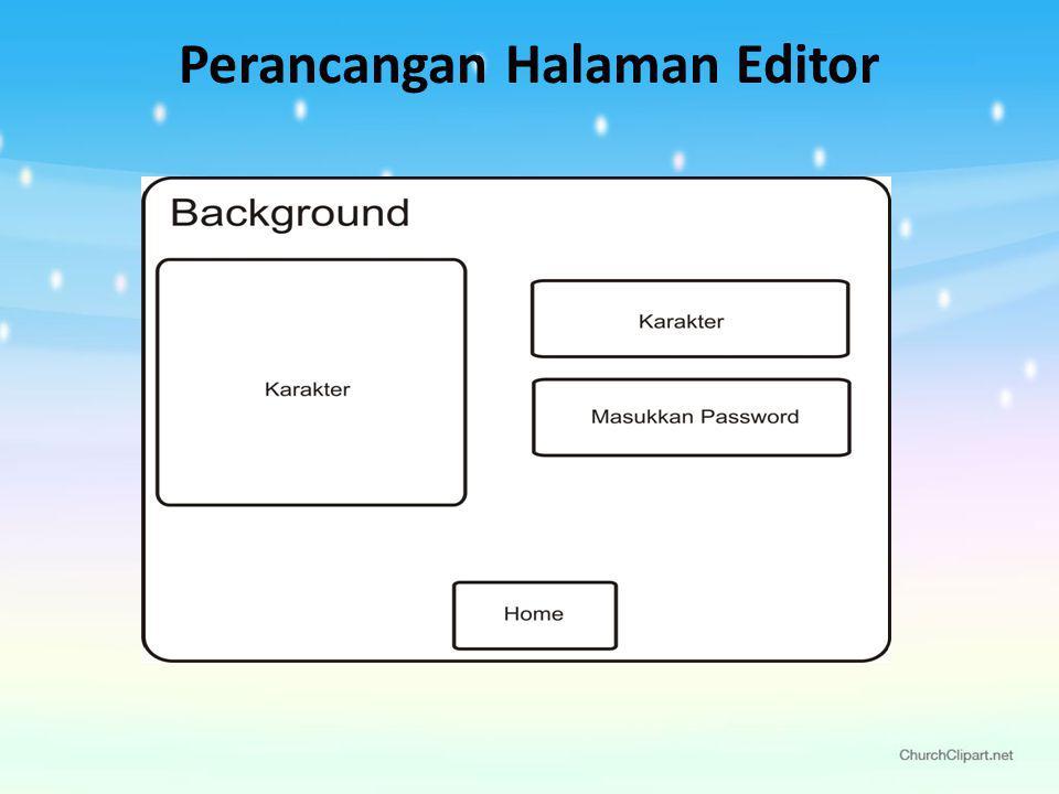 Perancangan Halaman Editor