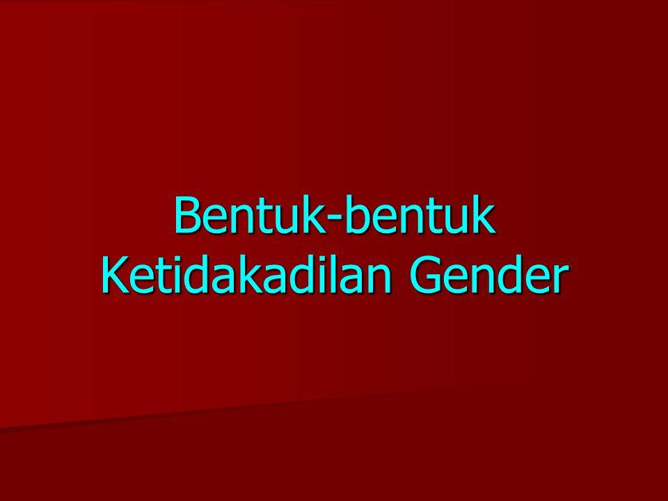 Bentuk-bentuk Ketidakadilan Gender