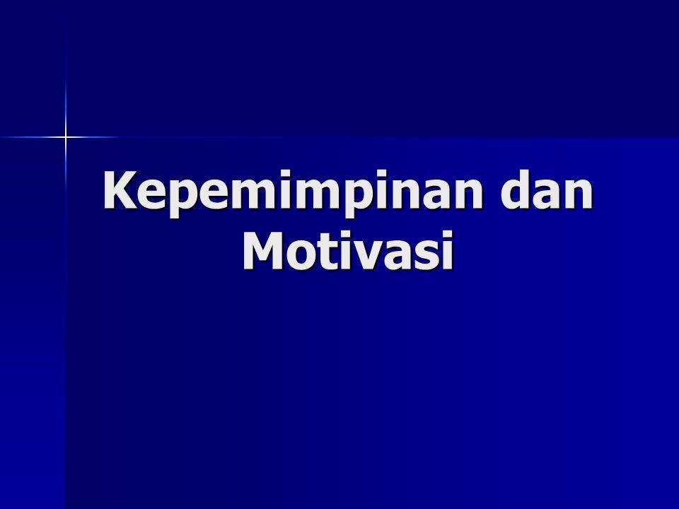 Pengertian Motivasi Definisi pertama, motivasi adalah dorongan yang bersifat internal atau eksternal pada diri individu yang menimbulkan antusiasme dan ketekunan untuk mengejar tujuan- tujuan spesifik (Daft, 1999).