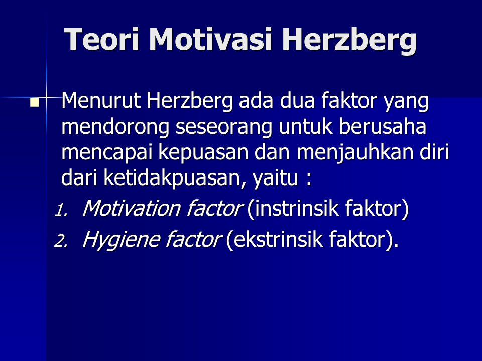Teori Motivasi McClelland Menurut McClelland, ada tiga hal yang melatar belakangi motivasi seseorang, yaitu : Menurut McClelland, ada tiga hal yang melatar belakangi motivasi seseorang, yaitu : 1.