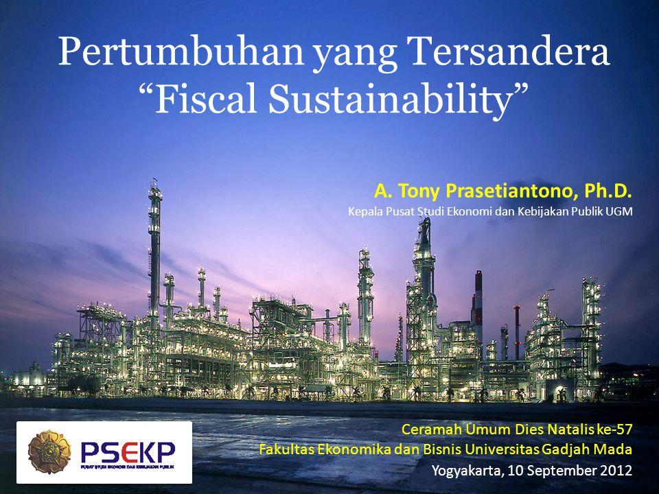 """Pertumbuhan yang Tersandera """"Fiscal Sustainability"""" Ceramah Umum Dies Natalis ke-57 Fakultas Ekonomika dan Bisnis Universitas Gadjah Mada Yogyakarta,"""
