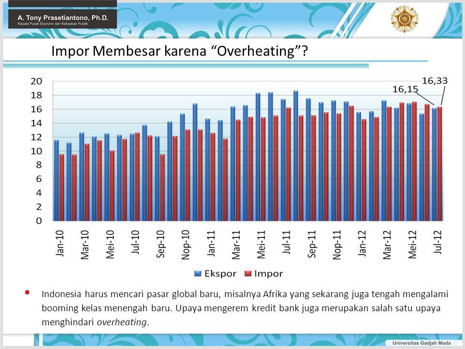 """Impor Membesar karena """"Overheating""""?  Indonesia harus mencari pasar global baru, misalnya Afrika yang sekarang juga tengah mengalami booming kelas me"""