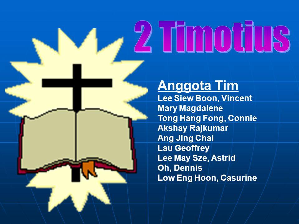 KARAKTERISTIK  Penjelasan yang paling penting dari Alkitab (3:16-17)  Eksposisi Perjanjian Baru yang paling jelas (4:2) -Pentingnya menjaga Firman Tuhan (1:14) -Pusat dari Alkitab (2:15) -Bertekun dalam Firman Tuhan (3:14) -Menderita demi Firman Tuhan (1:8; 2:3) 238