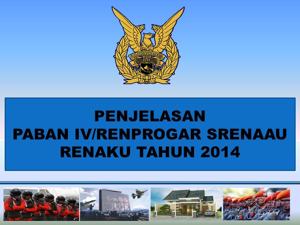 PENJELASAN PABAN IV/RENPROGAR SRENAAU RENAKU TAHUN 2014