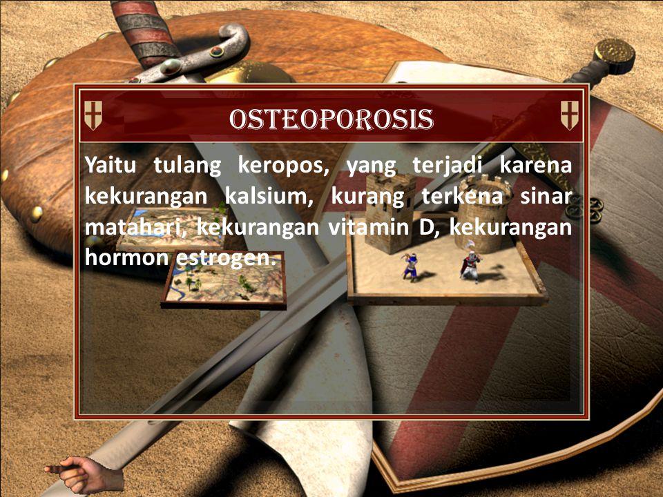 diartrosis Hubungan antar tulang yang memungkinkan adanya gerak.