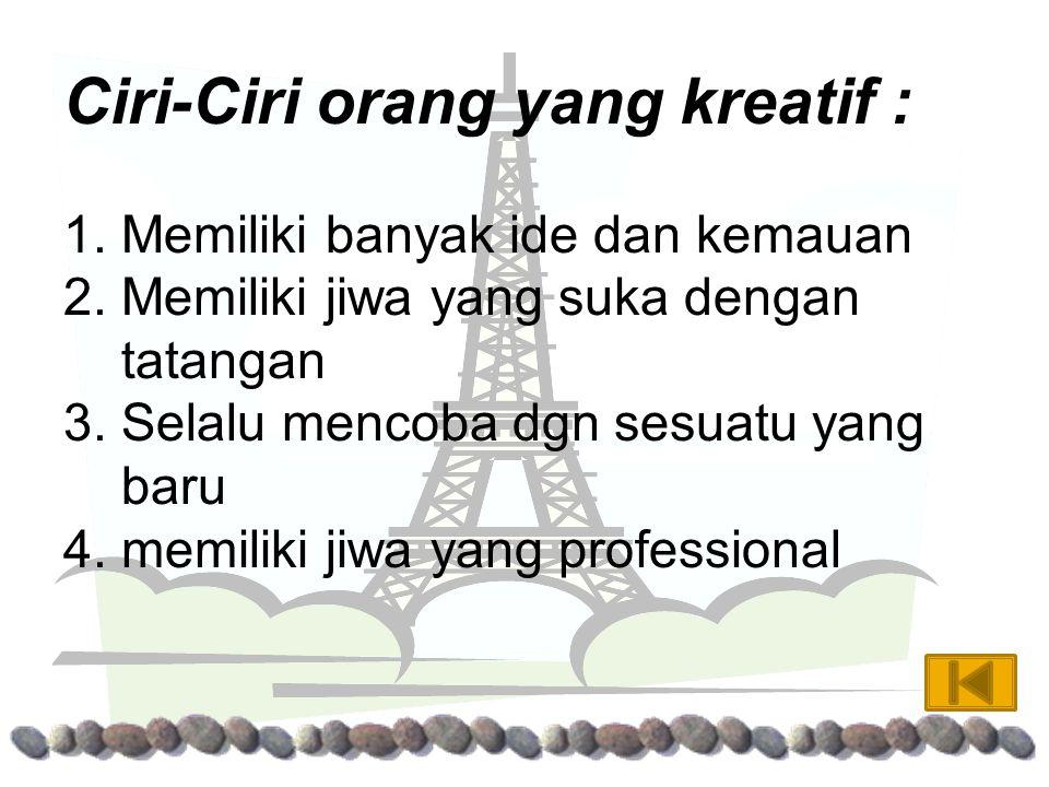 """kreatif berasal dari bahasa inggris """"create"""" yang berarti menciptakan, creation artinya ciptaan. Kemudian kata tersebut diadopsi kedalam bahasa Indone"""