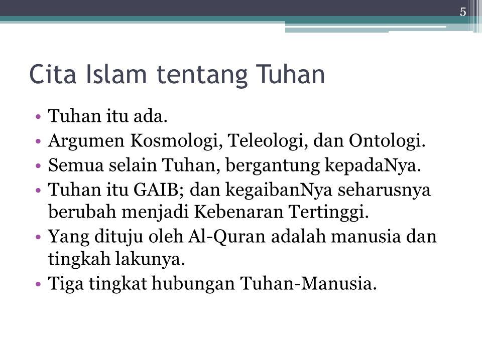 Alam (Kosmologi) Alam tunduk patuh (muslim) kepada Allah.