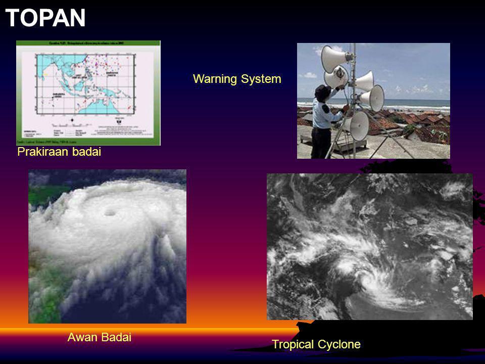 TOPAN Awan Badai Warning System Prakiraan badai Tropical Cyclone