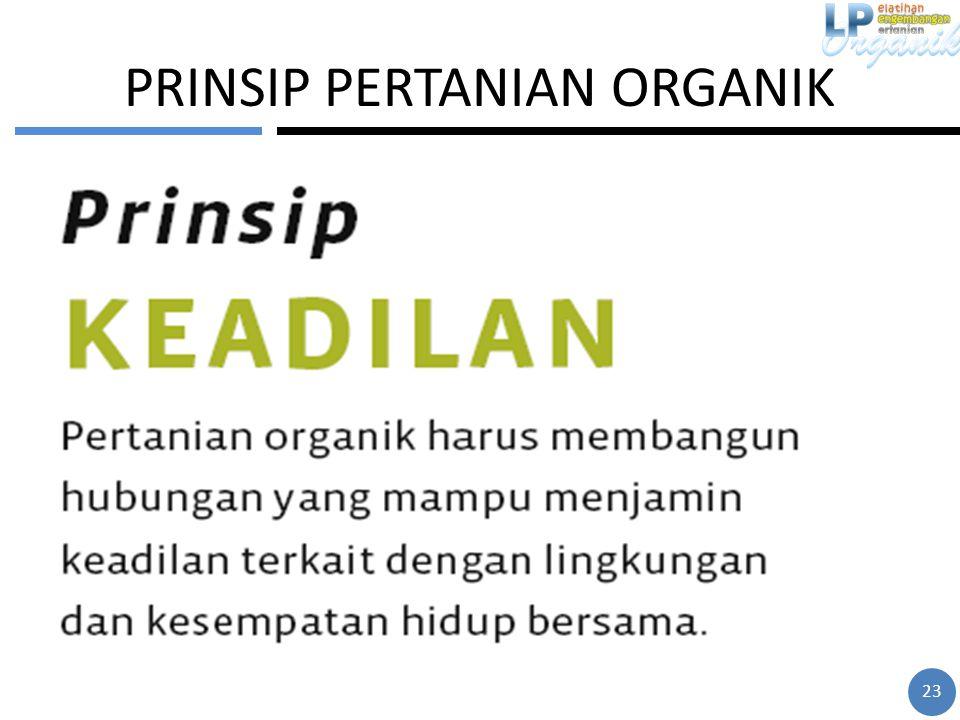 PRINSIP PERTANIAN ORGANIK 23