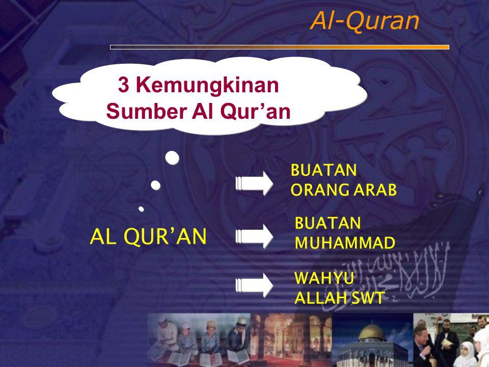 Mana jawaban yang benar? Yang benar adalah yang bersumber dari al-Qur'an Pemikiran spekulatif tidak berdasar. Nilainya bisa benar bisa salah Bila terd