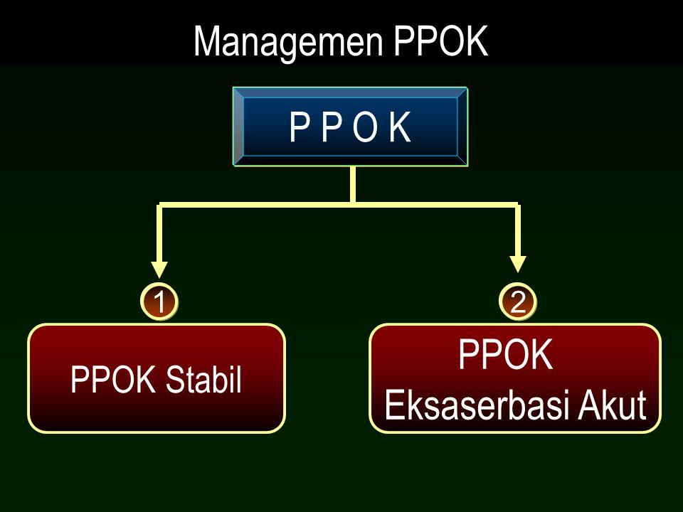 PPOK Stabil PPOK Eksaserbasi Akut P P O K Managemen PPOK 12