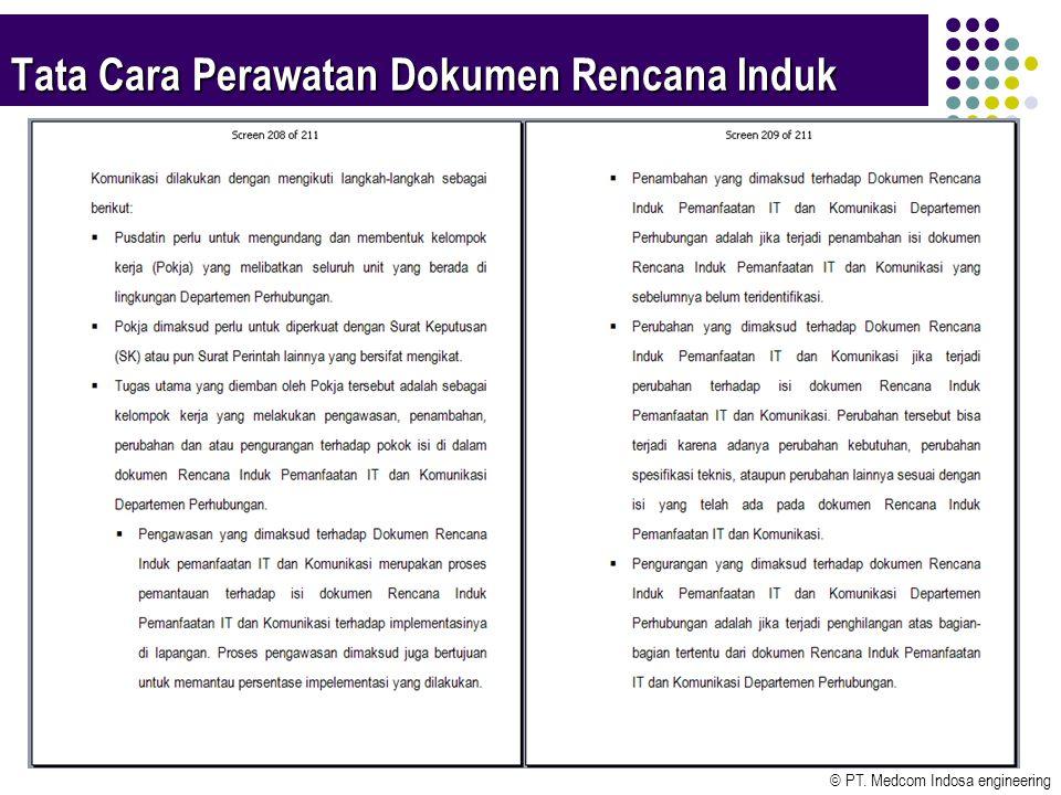 © PT. Medcom Indosa engineering 13 Tata Cara Perawatan Dokumen Rencana Induk
