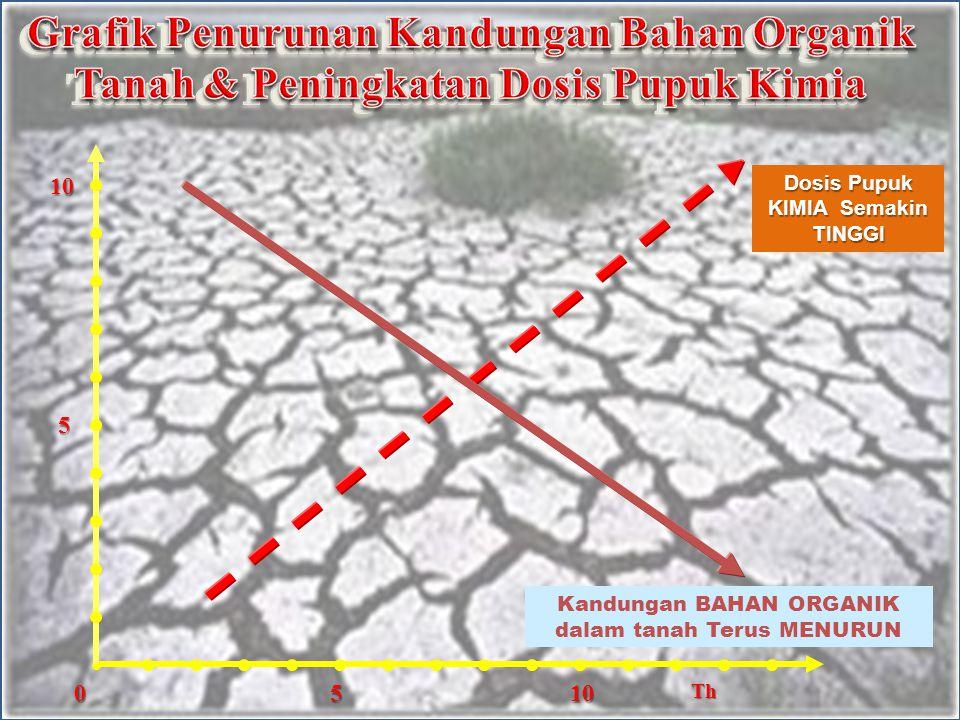Efek Samping Menggunakan pupuk kimia secara terus menerus, telah menyebabkan penurunan tingkat kesuburan lahan pertanian – Populasi mikroorganisme tanah berkurang / banyak yang mati.