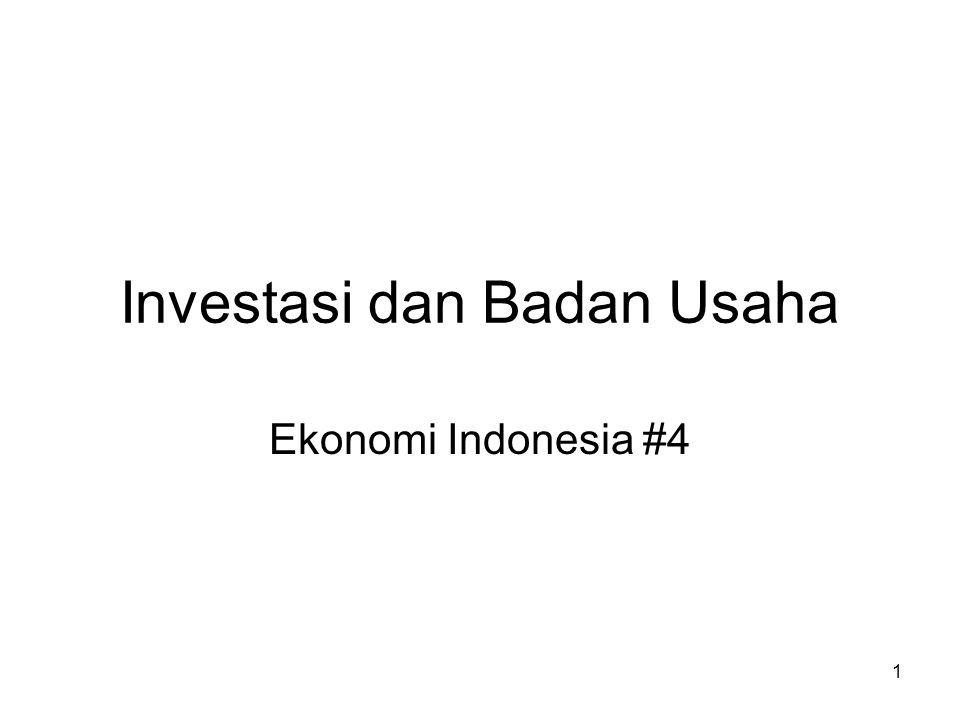 1 Investasi dan Badan Usaha Ekonomi Indonesia #4
