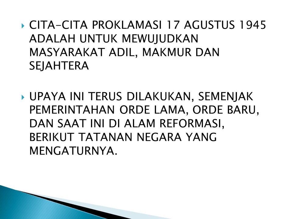 PASCA REFORMASI DAN AMANDEMEN UUD 1945, TELAH TERJADI PERUBAHAN DRASTIS TERHADAP SYSTEM KETATANEGARARAAN REPUBLIK INDONESIA.