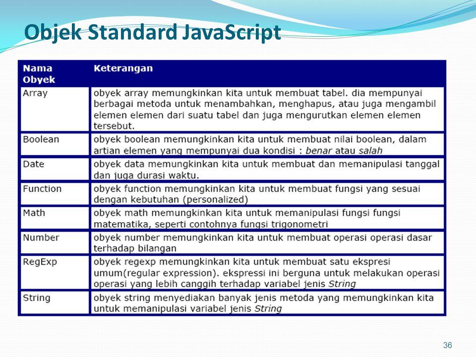 Objek Standard JavaScript 36