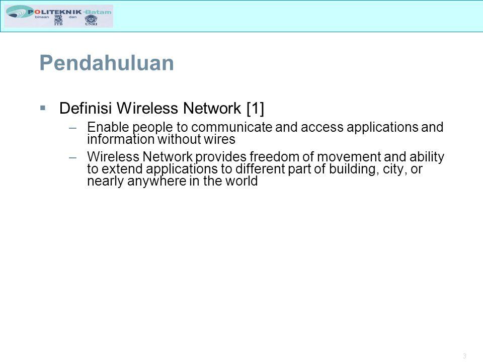 4 IEEE 802.15 Bluetooth WAN MAN LAN PAN IEEE 802.11 Wi-Fi Alliance IEEE 802.16d WiMAX IEEE 802.20 IEEE 802.16e 3GPP (GPRS/UMTS) 3GPP2 (1X--/CDMA2000) GSMA RAN IEEE 802.22 Regional Area Network Standar Eropa Wireless Standar 10 M 2,4 GHz 1 Mbps 20-50 M 2,4 GHz; 5 GHz 1, 11, 54, 200 Mbps 1-2 KM 3,5 GHz; 5 GHz Max Data Rate 20 Mbps