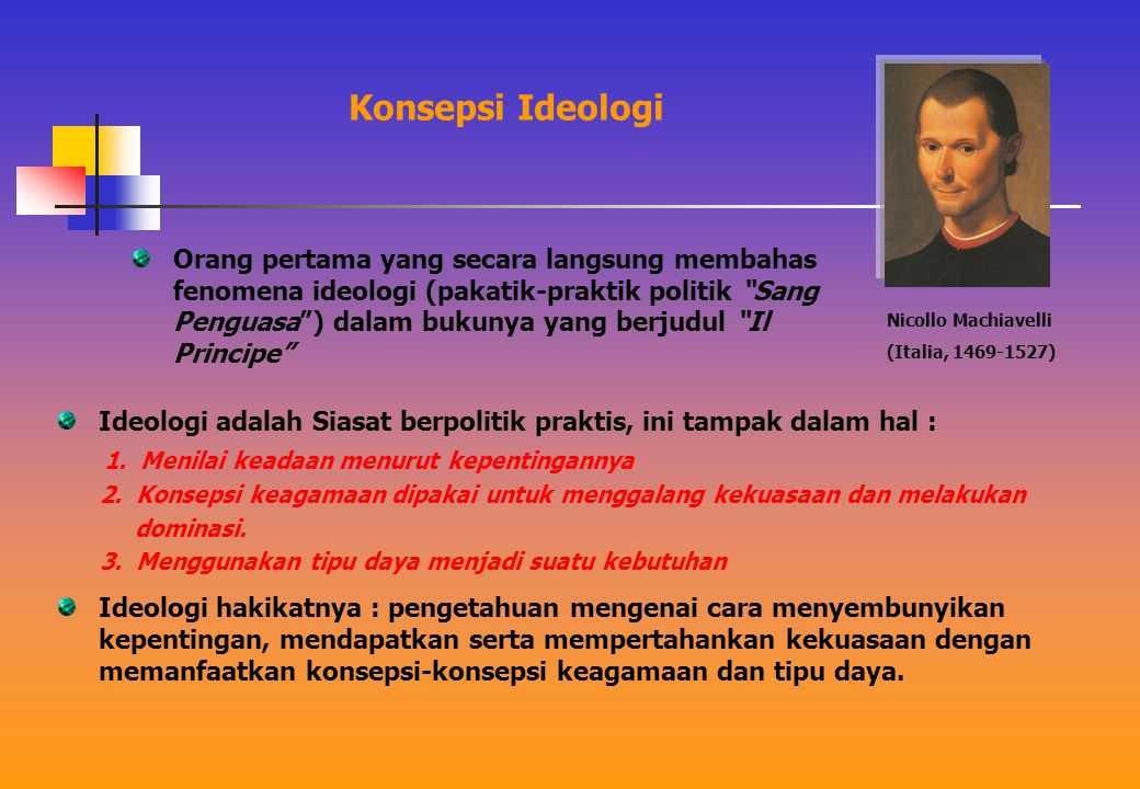 Dalama bukunya berjudul Les elements de l'idelogie , untuk pertma kali digunakan istilah ideologi, sekaligus pencipta istilah tersebut.