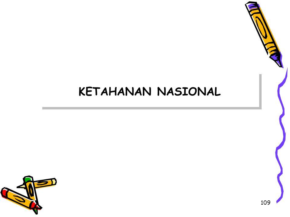 109 KETAHANAN NASIONAL