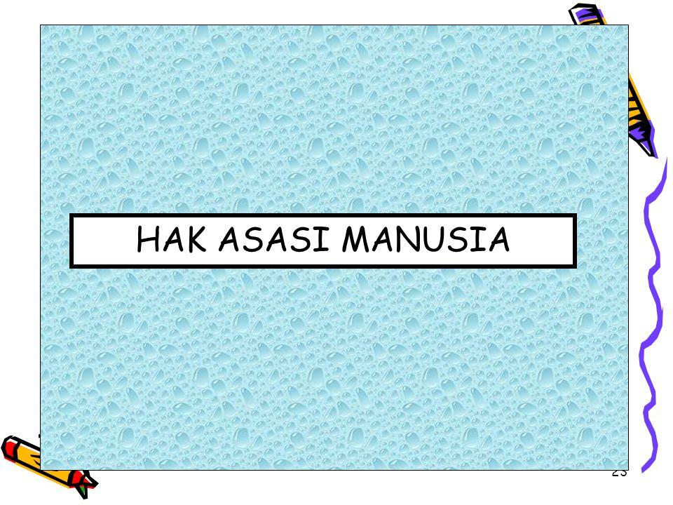 23 HAK ASASI MANUSIA