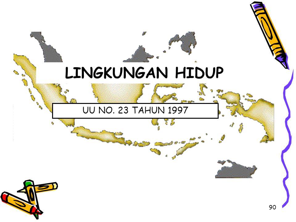 90 LINGKUNGAN HIDUP UU NO. 23 TAHUN 1997