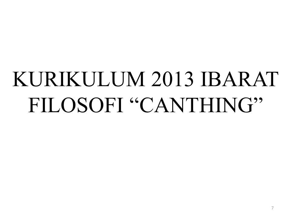 KURIKULUM 2013 IBARAT FILOSOFI CANTHING 7